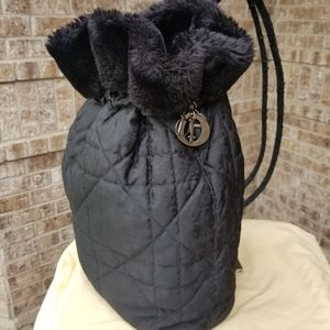 Authentic Dior Backpack Monogram with Fur